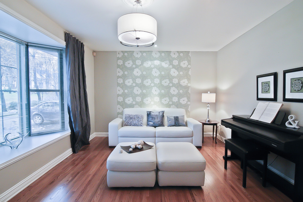 Cheap Headboards Living Room Contemporary with Bay Window Blinds Ceiling Light Curtain Panel Drum Shade Gray Love Seat