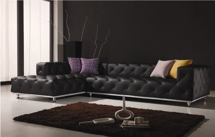 cheap sectionals Living Room Contemporary with black leather sectional black leather sofa black leather sofas sectional black sectional