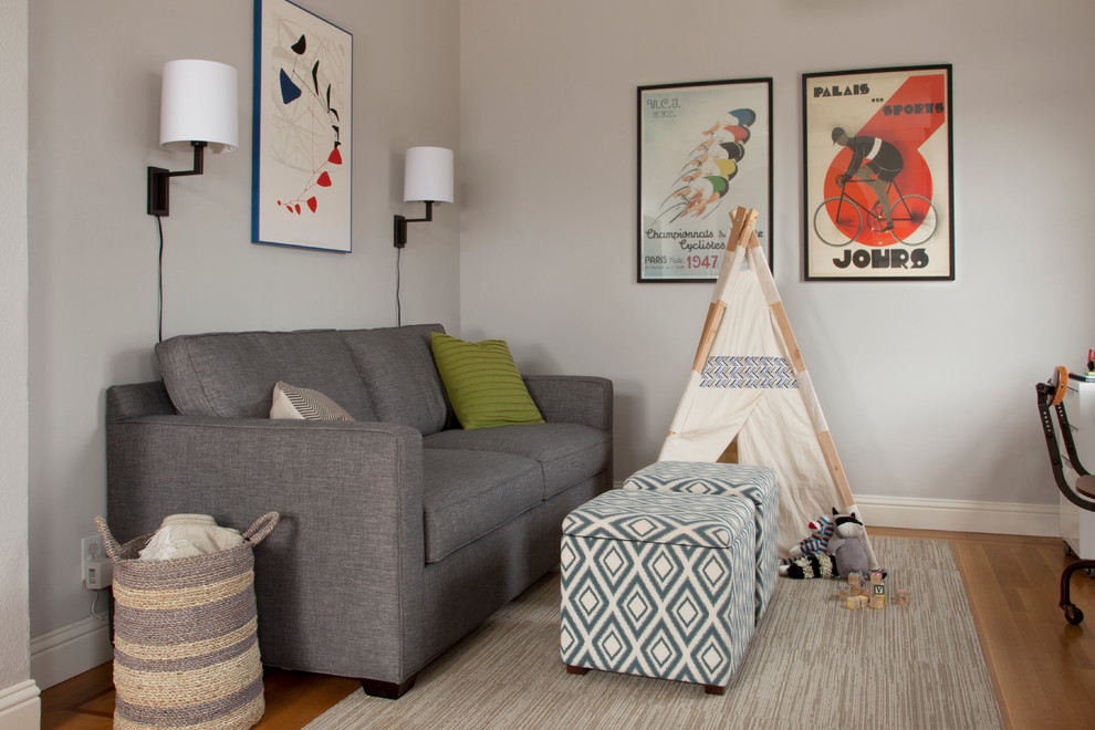 Cheap Sleeper Sofas Family Room Transitional with Beige Rug Blanket Basket Desk Gray Couch Kids Tipi Lime Green Pillow