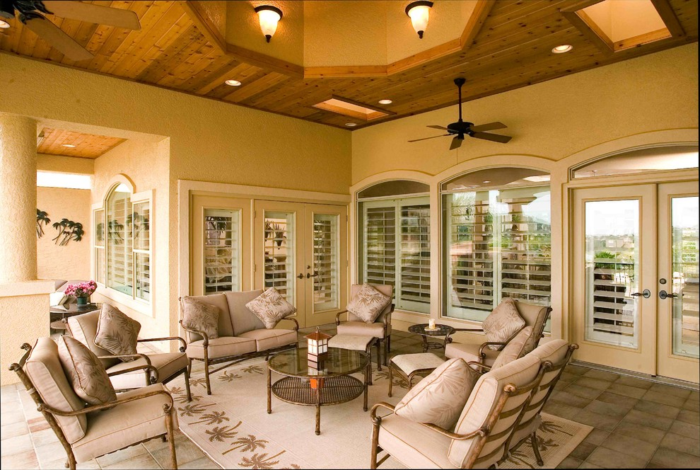 cheetah rug Deck Traditional with Basswood Shutters covered patio deck entertain Highprofile Elite indoor-outdoor interior shutter interior