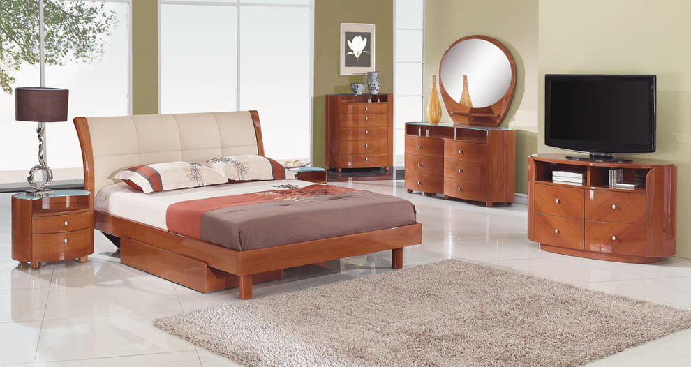 Cherry Dresser Spaces Modern with Bedroom Futniture Bedroom Set Cherry Bed Cherry Dresser Contemporary Bedroom Sets Lacquered