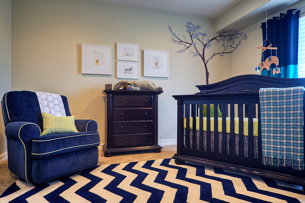 Chevron Area Rug Nursery Traditional with Area Rug Blue Blue Furniture Chest of Drawers Chevron Rug Dark Wood