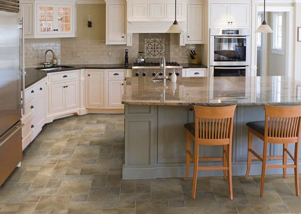 Chevron Curtains Kitchen Traditional with Colorful Kitchen Flooring Kitchen Flooring Luxury Flooring Luxury Tile Modern Kitchen Flooring
