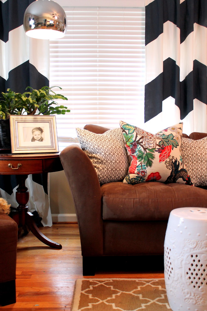 Chevron Curtains Living Room Contemporary with Chevron Drapery Trellis Rug