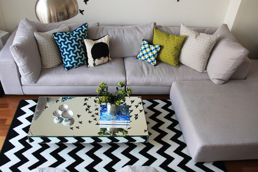 Chevron Rug Spaces with None