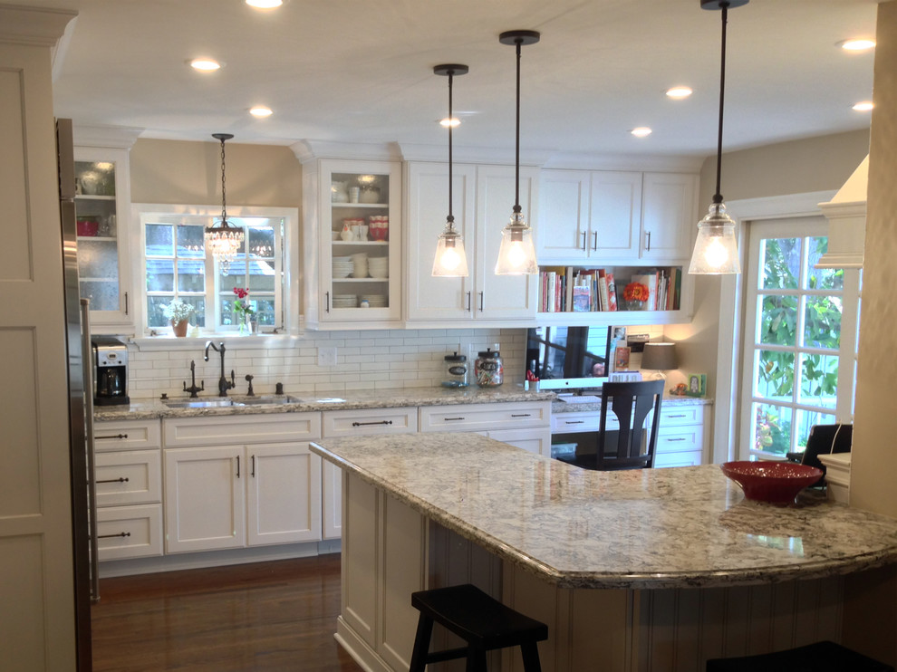 Chicago Cutlery Kitchen Transitional with Cabinets Cambria Custom Desk Dynasty Kitchen Oil Rubbed Bronze Omega Red Decor