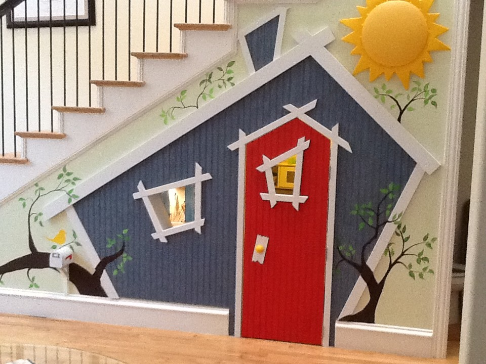 Childrens Playhouse Kids Eclectic with Bright Children Closet Craft Area Easy Fun Indoor Play Play Play Kitchen