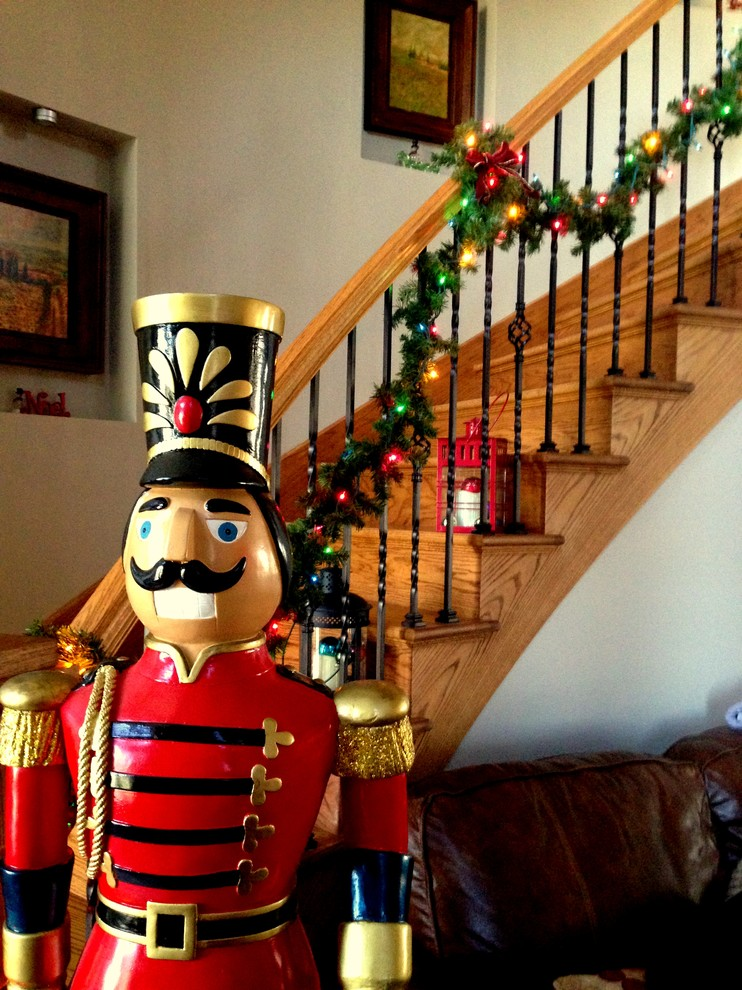 Christmas Nutcrackers Entry Transitional with Christmas Christmas Decor Christmas Decorate Christmas Decorations Garland Merry Christmas Nutcracker Stairs