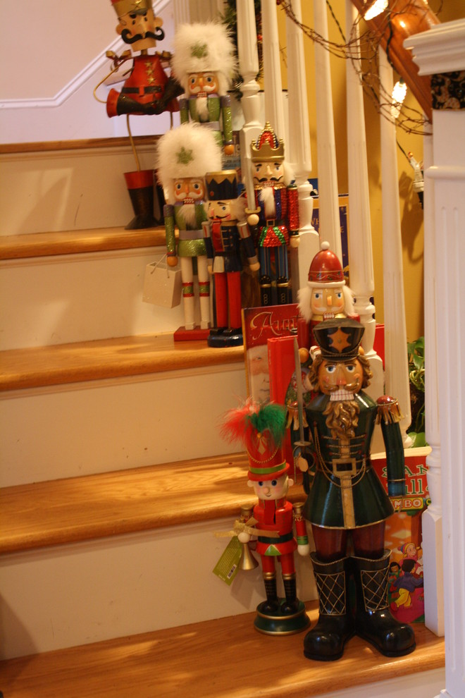 Christmas Nutcrackers Hall Traditional with Decorating Stairs Nutcrackers