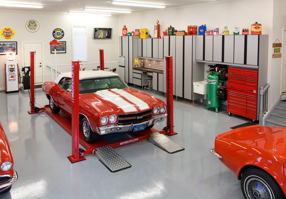 Closet Organizer Systems Garage and Shed Modern with Camaro Ss Car Collection Car Lift Car Memorabilia Convertible Custom Garage Garage