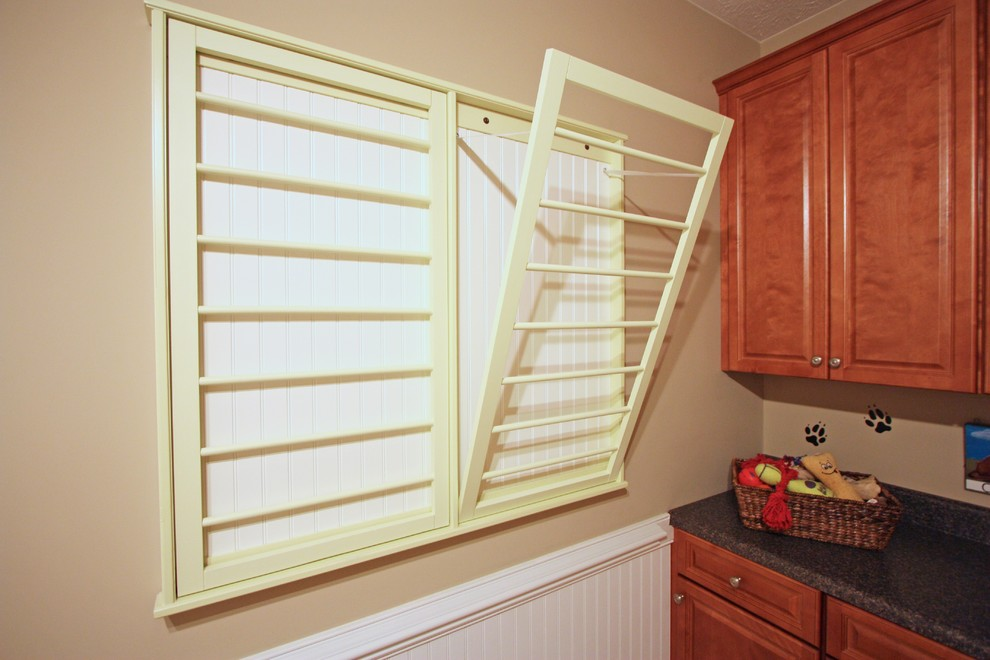 Clothes Drying Rack Laundry Room Traditional with None