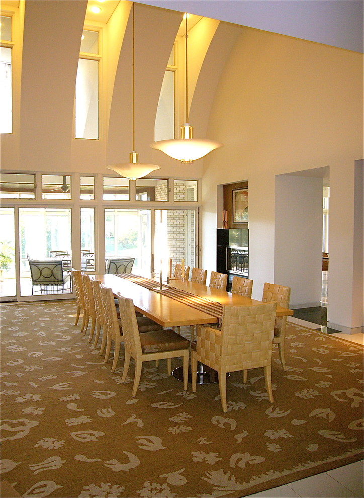 Coastal Rugs Dining Room Contemporary with Accessible Coastal Rug Coral Curves Dining Dramatic Ceiling Edward Fields Hall Inlay