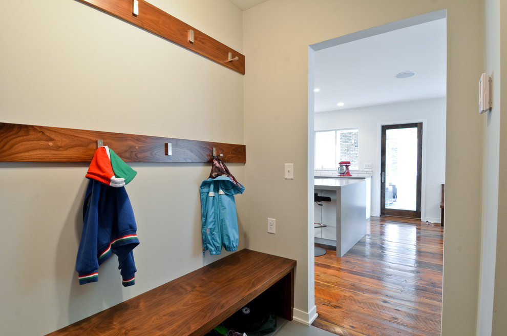 Coat Hook Rack Entry Contemporary with Clothes Storage Coat Hooks Entry Bench Mudroom Wood Bench Wood Flooring