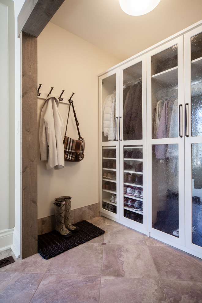 Coat Hooks Wall Mounted Entry Traditional with Back of Door Storage Beautiful Mudroom Beige Walls Chrome Handles Coat Hooks1