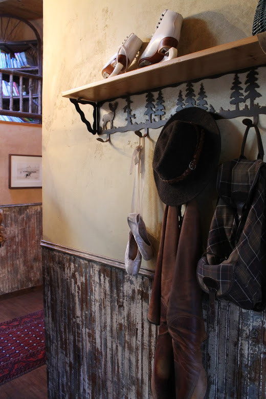 Coat Rack with Shelf Entry Rustic with None