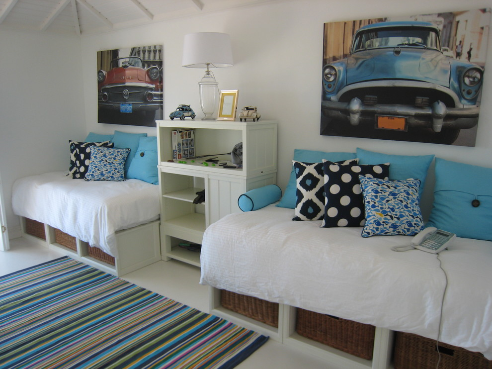 combi car seat Bedroom Tropical with area rug bed pillows bookcase bookshelves cars day bed decorative pillows shared