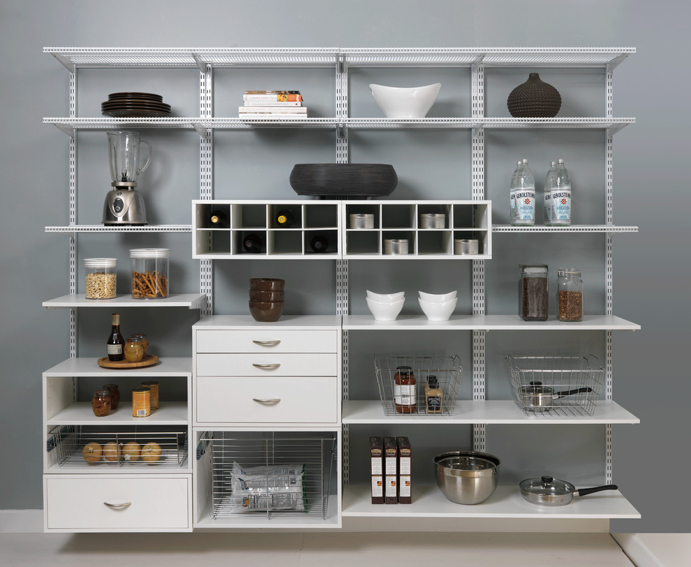 Component Shelf Spaces with Dream Pantry Kitchen Shelving Organized Kitchen Organized Pantry Pantry Shelving