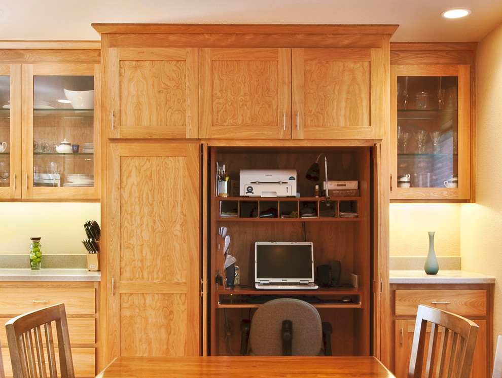 Computer Armoire Home Office Traditional with Built in Desk Compact Office Computer Armoir Computer Cupboard Computer Storage Desk