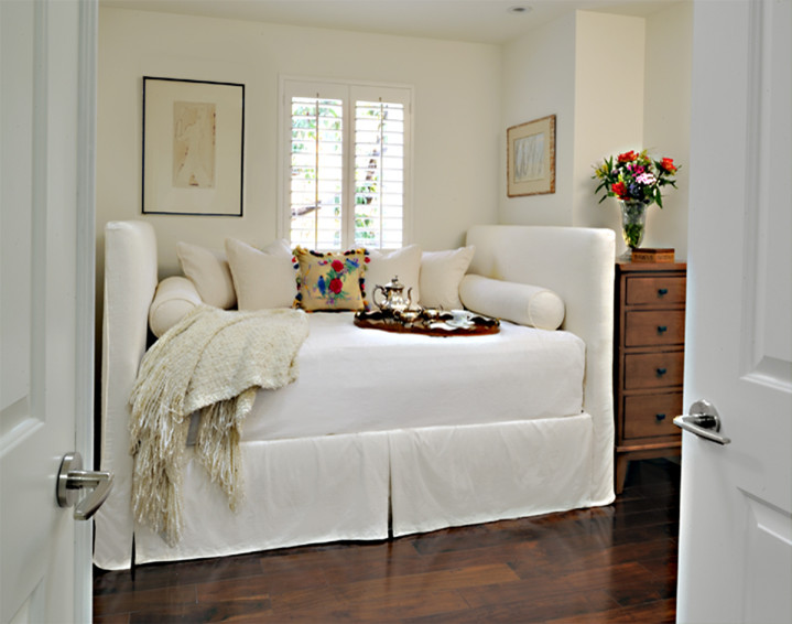 Contemporary Nightstands Bedroom Contemporary with Contemporary Daybed Slipcovered