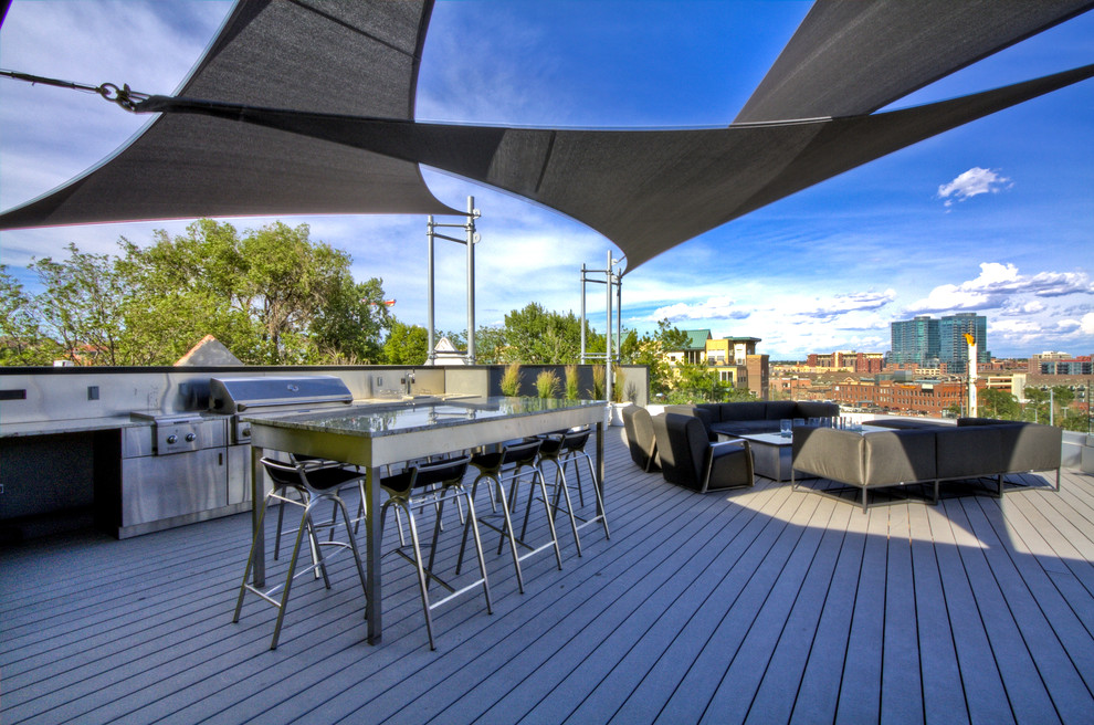 Coolaroo Patio Contemporary with Bar Stool Entertaining Outdoor Kitchen Patio Furniture Roof Terrace Sail Shade Steel
