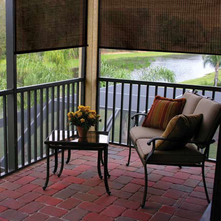 Coolaroo Porch Traditional with Backyard Shades Blindscom Blindscom Exterior Shades Blindscom Outdoor Shades Blindscom Shades Brown