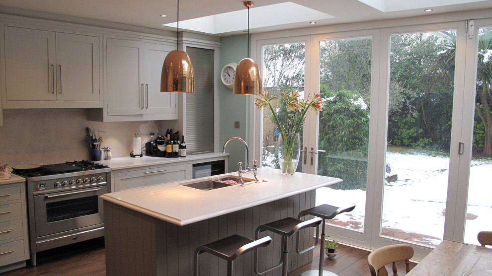 copper pendant light Kitchen Modern with barstool kitchen island kitchen island with sink kitchen table patio door pendant