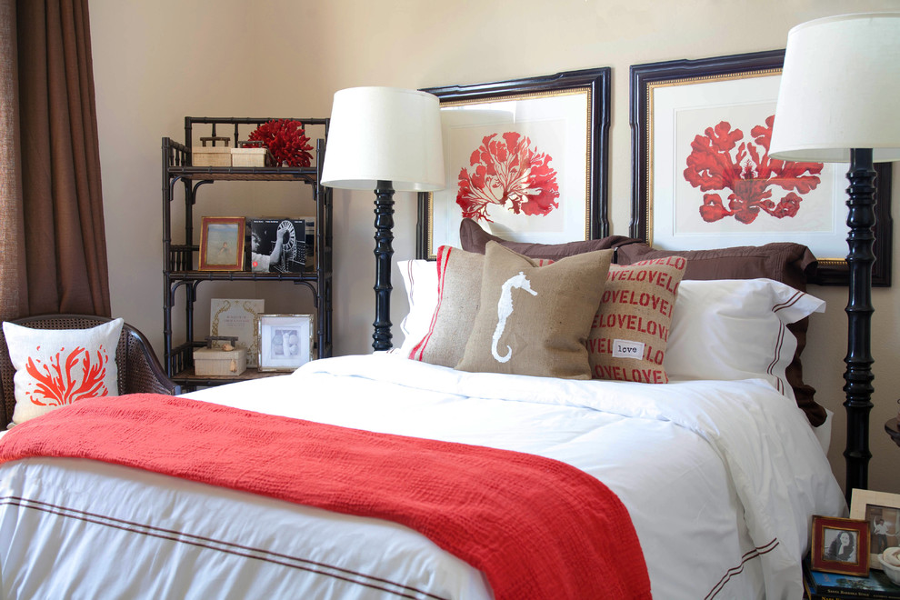 coral bedding sets Bedroom Beach with bed pillows burlap coastal coral decorative pillows floor lamps hotel bedding reading