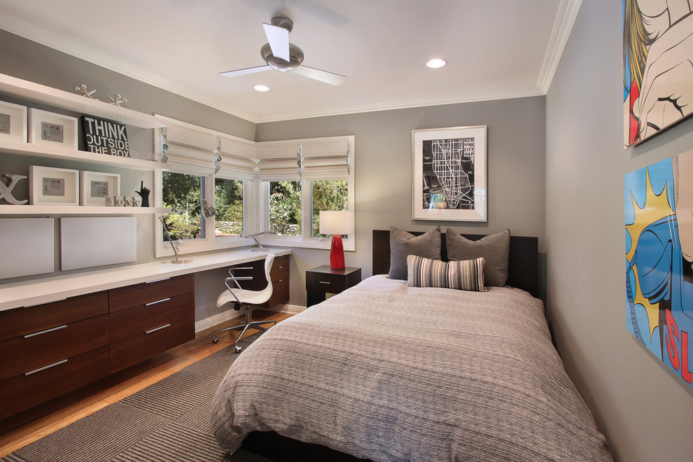 Cordless Roman Shades Bedroom Contemporary with Area Rug Artwork Boy Built in Casters Clean Comic Contemporary Desk Desk