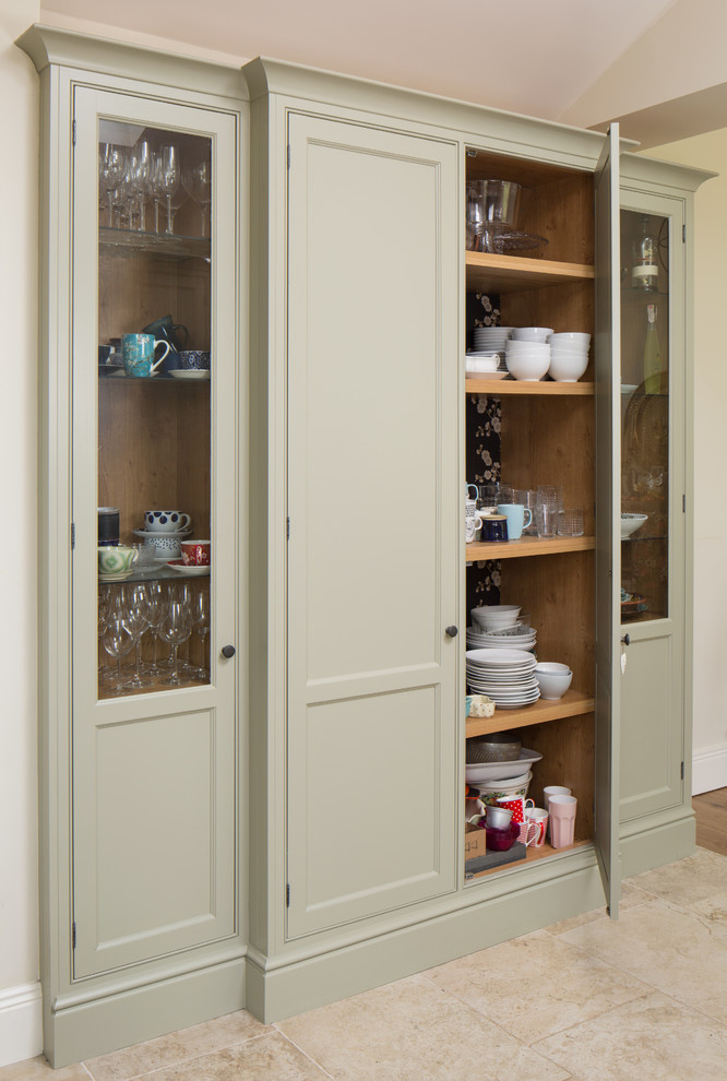 Corelle Dinnerware Kitchen Traditional with Dinnerware Storage Glass Front Cabinets Light Green Cabinets