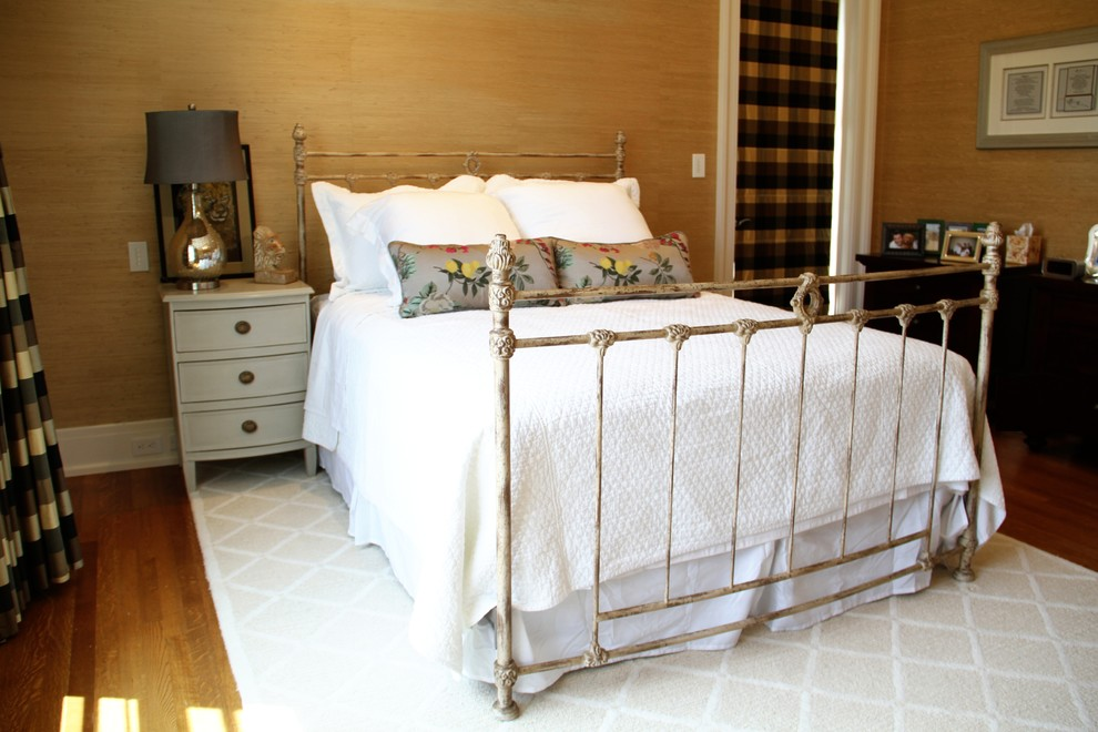 Cork Underlayment Bedroom Traditional with Iron Bed Iron Bed with Castings Sussex Wreath Bed Traditional Iron Bed