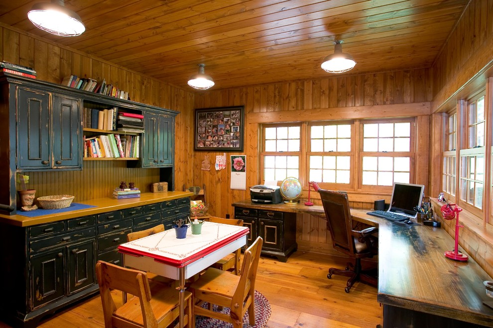Corner Desk with Hutch Home Office Rustic with Art Room Breakfront Cabin Custom Office Desk Hutch Lake Lake Home Lodge
