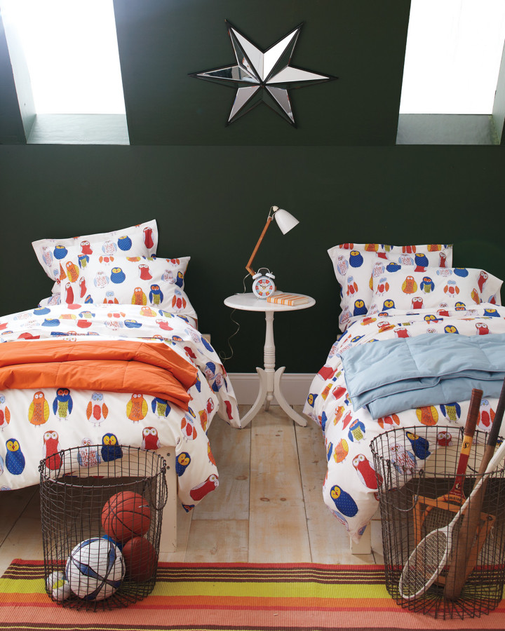 cotton percale Kids Eclectic with bedding for boys bedding for kids black walls dormers kids bedding kids