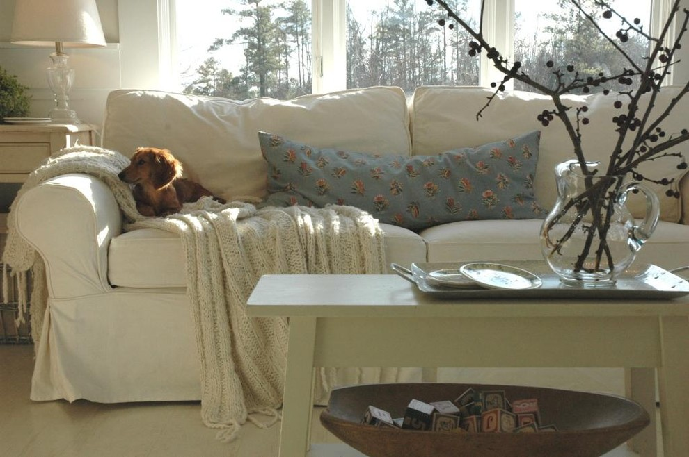 Couch Slipcovers Living Room Eclectic with Cottage Farmhouse Living Room Modern Country Slipcovered Sofa