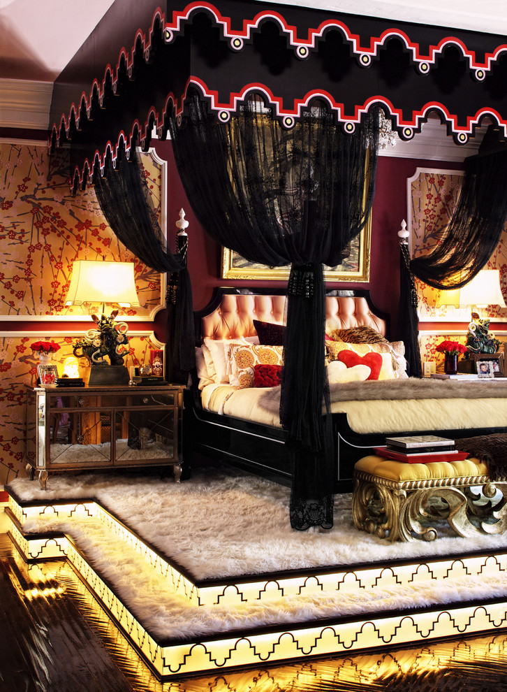 Counter Height Dining Sets Bedroom Traditional with Back Lit Bedside Table Black Cherry Blossoms Circa Bed Foo Dog Lamps