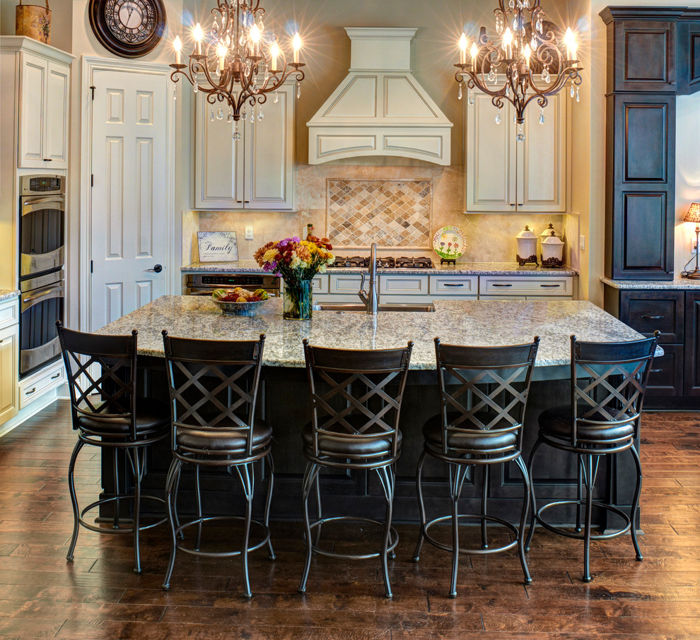 Counter Stools with Backs Kitchen Traditional with Beige Tile Backsplash Black Counter Stools Chair Back Gas Range Gold Chandelier