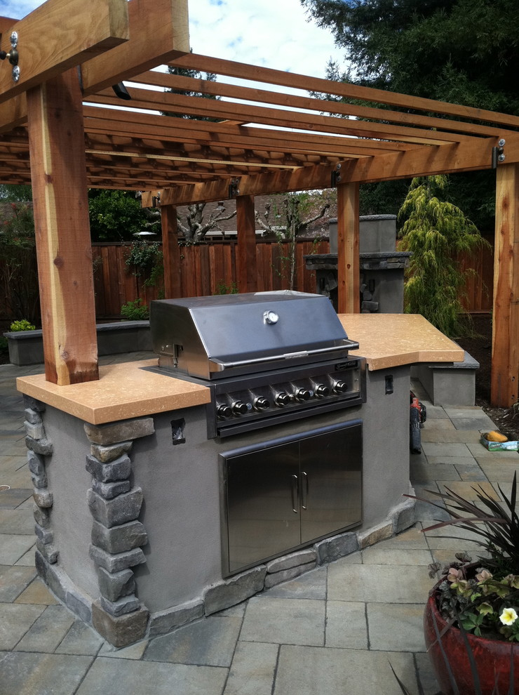 Coyote  Grills Patio Traditional With Belgard Patio Slab Pavers In Tuscana Col Buddy Rhode Concrete  Cabinets And