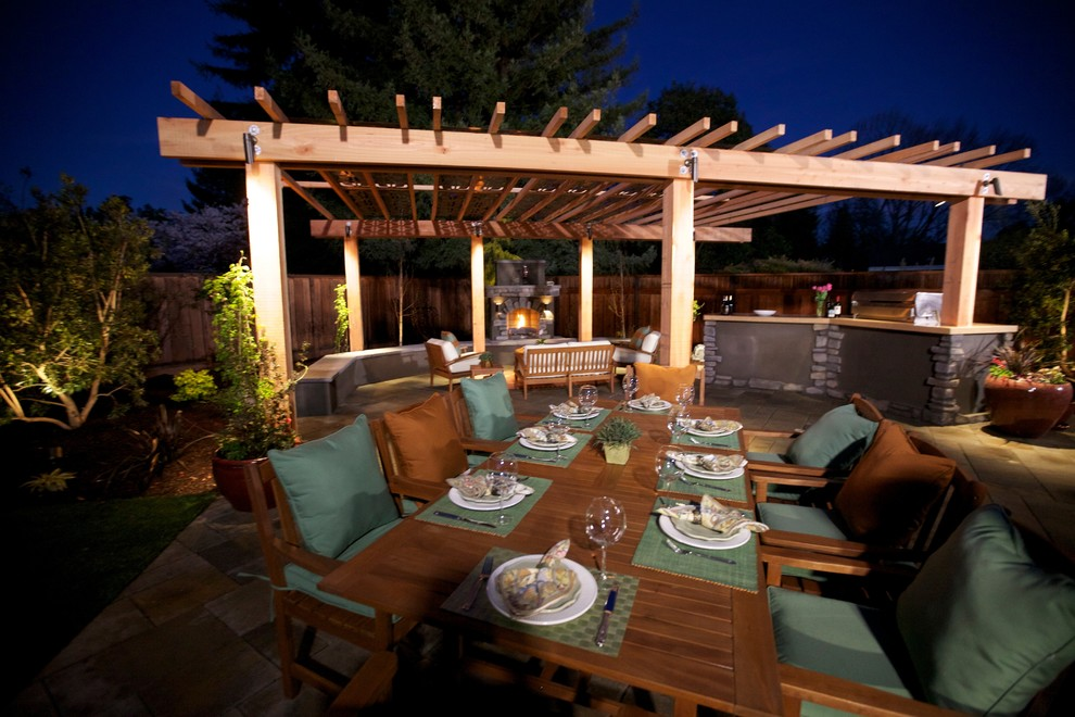 coyote grills Patio Traditional with Eldorado Outdoors bbq cabinets and Eldor Grey Gables Stucco landscape lighting Outdoor