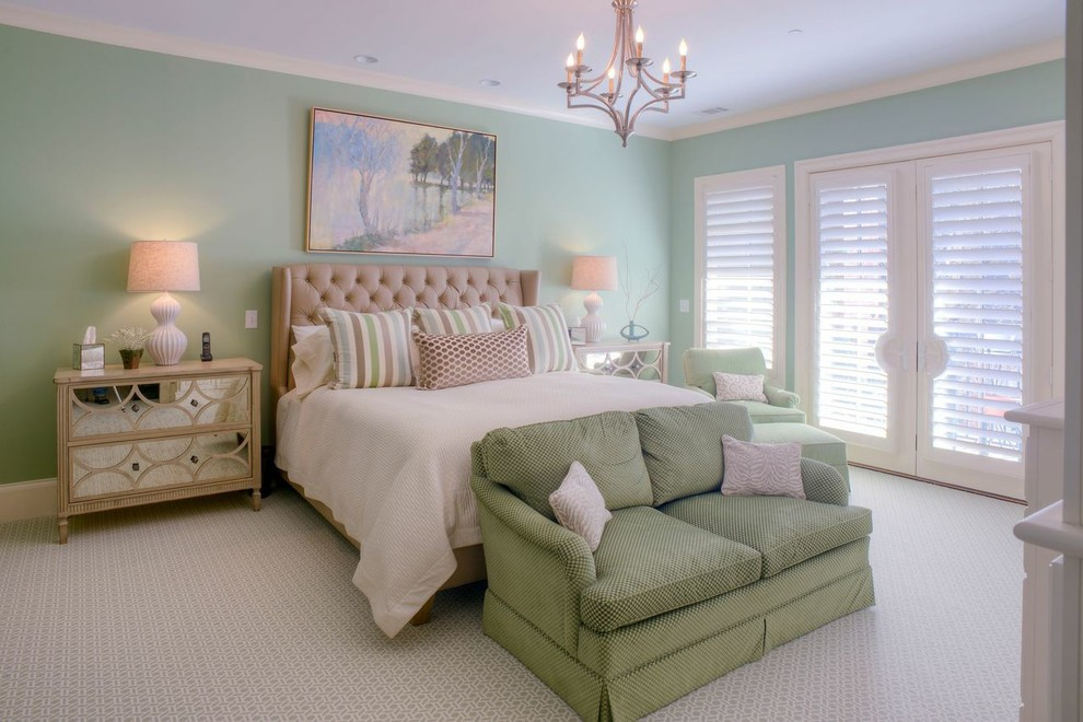 cream comforter Bedroom Transitional with 45 shutters cream colored comforter custom made bed linens geometric design green