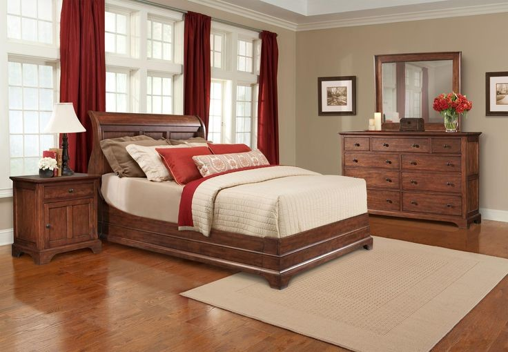 Cresent Furniture Bedroom Contemporary with American Appalachian Bedroom Casual Cherry Modern Natural Sustainable Traditional Wood