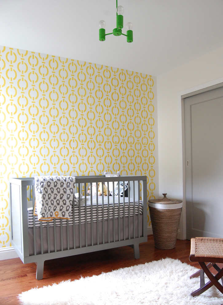 Crib and Changer Combo Nursery Contemporary with Flokati Rug Gray Nursery Grey Crib Grey Roman Shade Ideas for Baby
