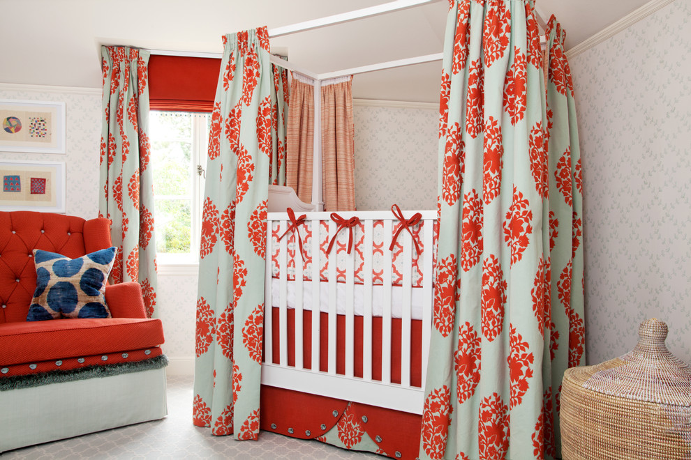 Crib and Changer Combo Nursery Eclectic with Accessories Bathroom Bedding Blue Canopy Crib Carpet Curatorial Services Custom Furniture Design