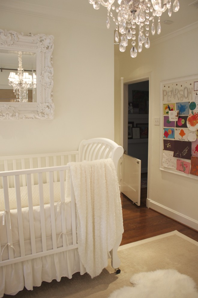 Crib Sheets Nursery Traditional with Area Rug Bulletin Board Chandelier Crib Crib Bedding Dutch Door Mirror Monochromatic