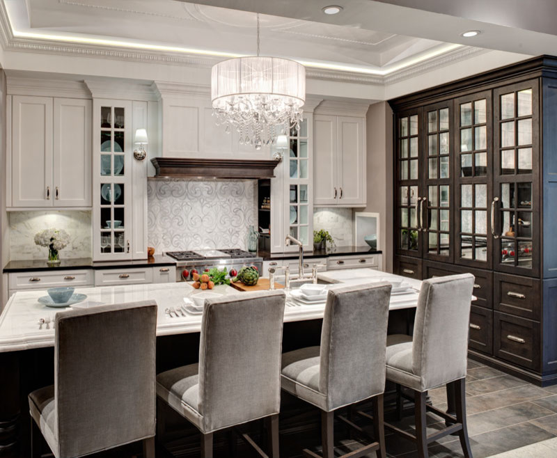 Crystorama Chandelier Kitchen Traditional with None