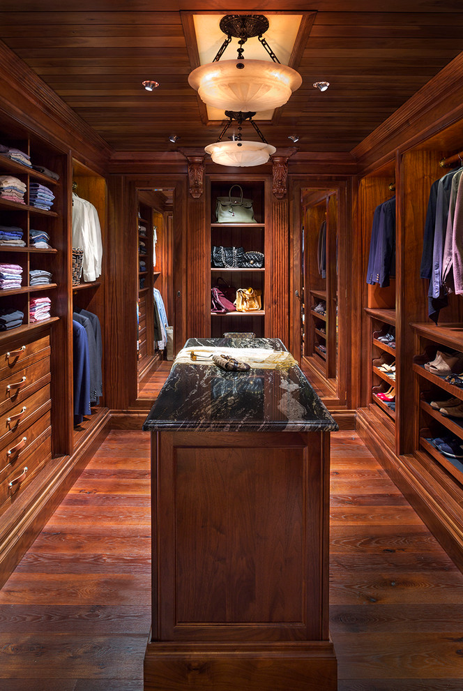 Cubby Shelves Closet Traditional with Ceiling Light Dark Wood Ceiling Dark Wood Closet Island Dark Wood Drawers