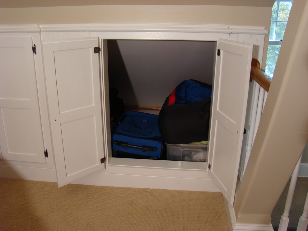 Cubby Storage Unit Spaces Traditional with Attic Attic Bedroom Attic Family Room Attic Remodel Attic Storage