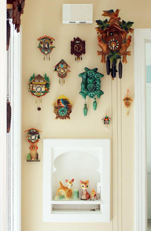 cuckoo clock Spaces Eclectic with none