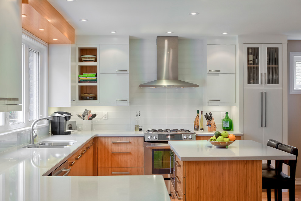 Cuisinart Single Serve Brewing System Kitchen Contemporary with Bamboo Bamboo Back of Cabinets Contemporary Design Listral H Glass Range Small