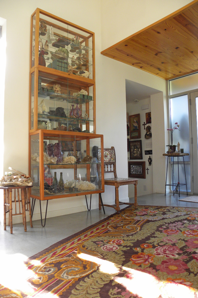 Curio Cabinet Entry Industrial with Area Rug Cabinet Ceiling Chair Collection Curios Floral Shells Shelves Stool Texas