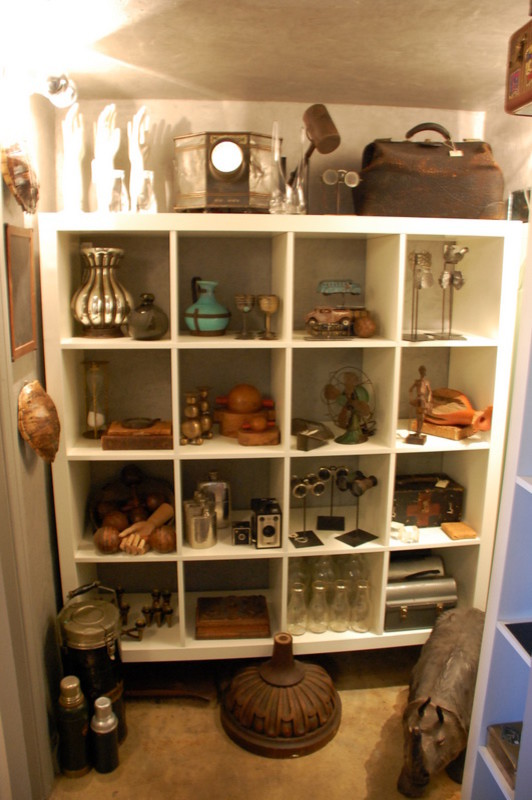 curio cabinets Spaces with accessories collection shelves wall