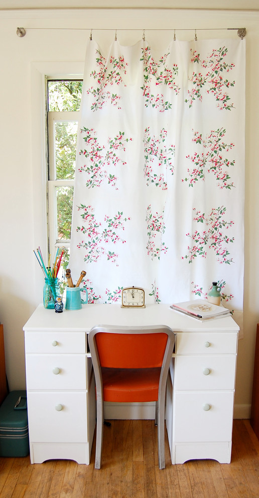 Curtain Rings with Clips Home Office Shabby Chic with Curtain Hardware Curtains Desk Chair Desktop Drapes Floral Curtain Panel White Desk